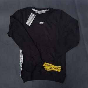 sweatshirt offwihte black